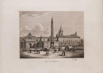 Piazza del Popolo con vista della Porta