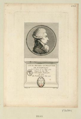 Louis Michel le Peletier de St Fargeau né à Paris le 29 mai 1760 député de cette ville à l'Assemblée nationale de 1789 elu président le 21 juin 1790 : [estampe]