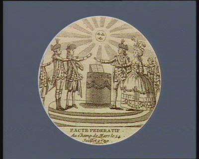 Pacte federatif au <em>Champ</em> <em>de</em> <em>Mars</em> le 14 juillet 1790 [estampe]