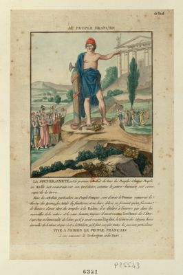 Au peuple français la souveraineté est le premier attribût de tous les peuples... : [estampe]