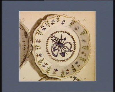[Assiette décorée des symboles des Trois Ordres] [dessin]
