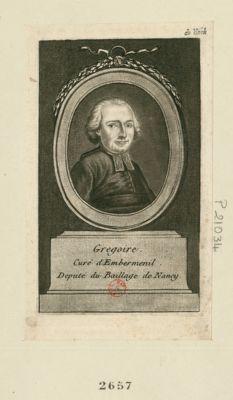 Grégoire curé d'Embermenil, député du baillage de Nancy : [estampe]