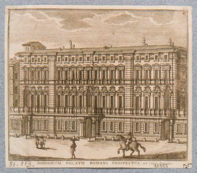 Palazzo Doria. Prospetto in Corso Umberto I