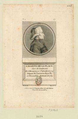 Calixte de La Place : curé de Landevoisin né à Morcourt pres St Quentin en 1729 député de Perronne, Roye &c. à l'Assemblée nationale de 1789 : [estampe]