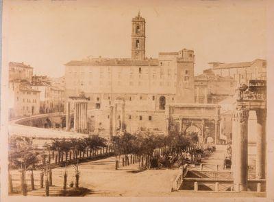 Foro Romano, pianta, panorama ovest
