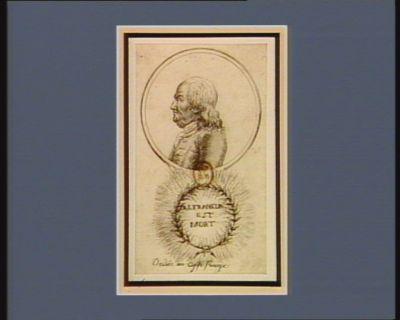 B.J. Franklin est mort dédiée au caffé Procope : [estampe]