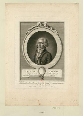 Antoine Grenot député du bail.ge de Dole, actuellement dép. t du Jura, né à Gendrey le [ ] : [estampe]