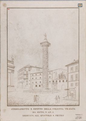 Foro Traiano, colonna ed area circostante prima dello scavo francese