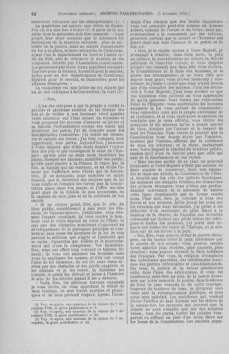 Tome 54 : Du 1er au 10 décembre 1792 - page 62