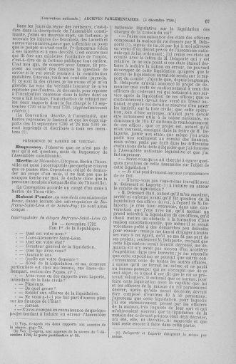 Tome 54 : Du 1er au 10 décembre 1792 - page 67