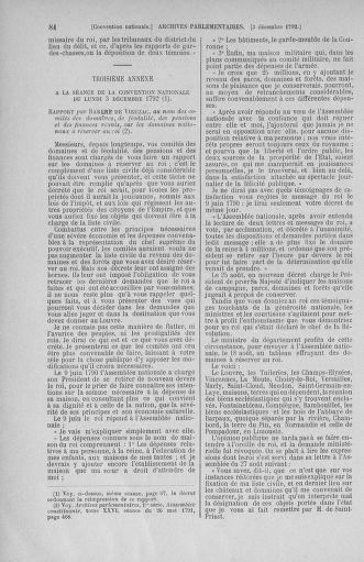 Tome 54 : Du 1er au 10 décembre 1792 - page 84