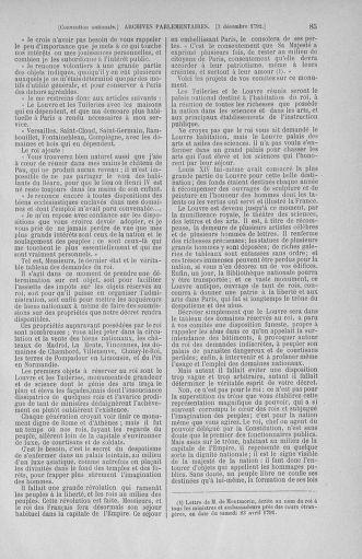Tome 54 : Du 1er au 10 décembre 1792 - page 85