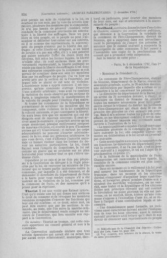 Tome 54 : Du 1er au 10 décembre 1792 - page 354