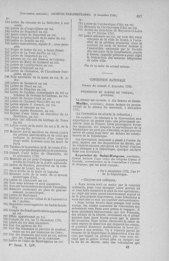 Tome 54 : Du 1er au 10 décembre 1792 - page 657