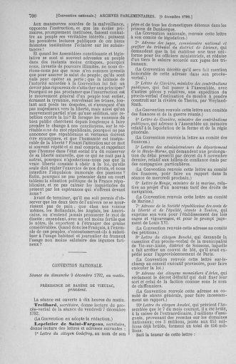 Tome 54 : Du 1er au 10 décembre 1792 - page 700