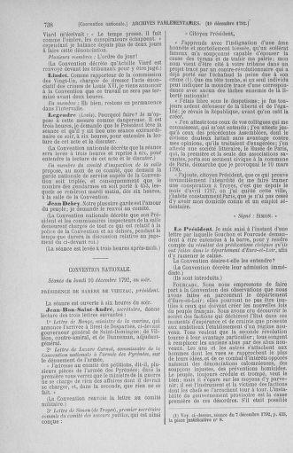 Tome 54 : Du 1er au 10 décembre 1792 - page 738