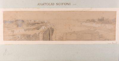 Palatino, veduta generale con inizio di alcuni scavi
