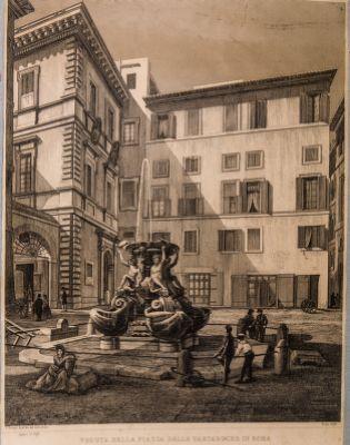 Veduta della piazza delle Tartarughe in Roma