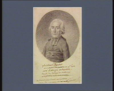 philibert Genetet né à chalon sur Saone le 20 9.bre 1727, curé d'etrigni archiprêtre - deputé du baillage de chalon s. s. à l'assemblée nationale en 1789. : a souscrit pour trente exemplaires pour le couran de novembre : [dessin]