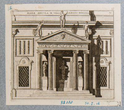 Villa Albani. Edicola detta di Diana