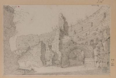 Colosseo, interno. Disegno preso al terzo ordine