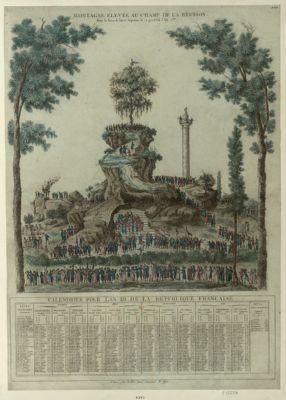 Montagne élevée au Champ de la Réunion pour la fête de l'Etre suprême le 20 prairial l'an 2.me : [estampe]