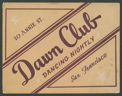 Small adversting sign for Dawn Club