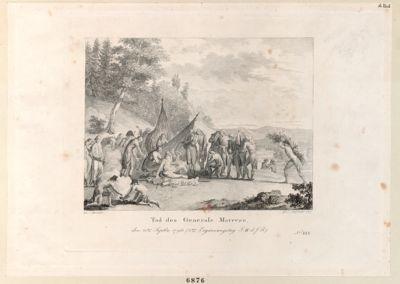 Tod des <em>Generals</em> <em>Marceau</em> den 21ten Septbr <em>1796</em>... : [estampe]