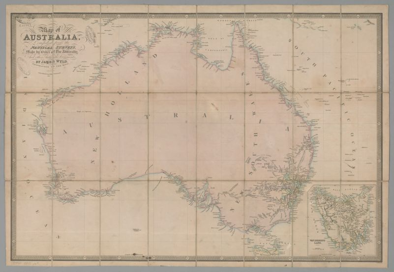 Map of Australia : compiled from the nautical surveys, made by order of The Admiralty and other authentic documents