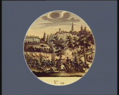 N.o 92 13 et 14 novembre. Combat d'Anderlecht, près de Bruxelles... : [estampe]