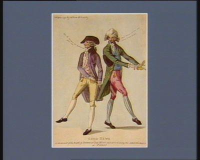 Good news or an account <em>of</em> <em>the</em> Battle <em>of</em> Tournay and Mons just arriv'd among <em>the</em> aristocrats at Paris [estampe]