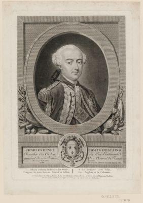 Charles Henri comte d'Estaing chevalier des ordres du Roi lieutenant général de ses armées, vice amiral de France. Né le 24 novembre 1729. Présenté par son tres humble serviteur Bligny pere : [estampe]