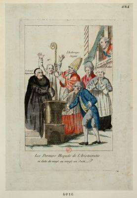 Les  Derniers hoquets de l'aristocratie en datte du vingt au vingt un juin : [estampe]
