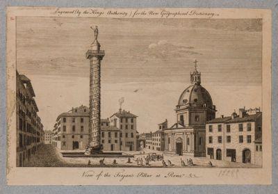Piazza del Foro Traiano, lato ovest con parti dei lati nord e sud