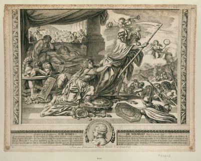 Les  Amis de la Constitution aux manes de Mirabeau mort le 2 avril 1791 la consternation generale est exprimée par la France éplorée... : [estampe]