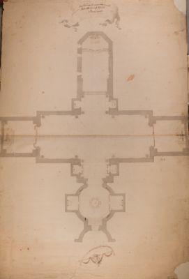 Parte delle terme di Diocleziano ridotte a Chiesa della Madonna degli Angeli, pianta