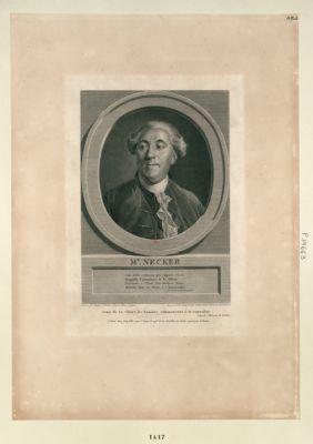 Mr Necker son zèle vertueux que respecte l'envie Rappelle l'abondance et la félicité, Précieux à l'état, son modeste génie Marche, sans le savoir, à l'immortalité... : [estampe]