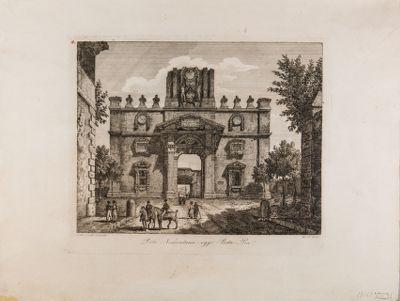 Porta Pia, veduta generale verso l'interno