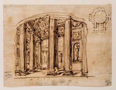Pantheon. Gallerie interne e pianta circolare
