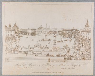 Piazza del Popolo veduta dal Pincio