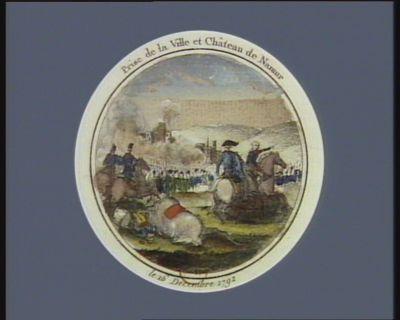 Prise de <em>la</em> ville et château de Namur le 16 décembre 1792 : [estampe]