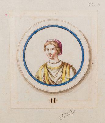 Medaglione con ritratto di fanciulla, Terme di Tito