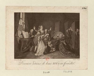 Derniers adieux de Louis XVI à sa famille [estampe]