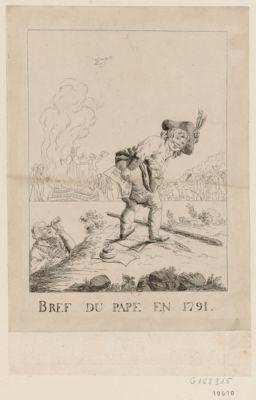 Bréf du Pape en 1791 [estampe]