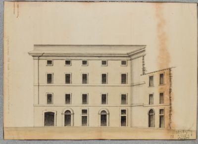 Casa Berti, presso Santa Maria in Via. Pianta e prospetti