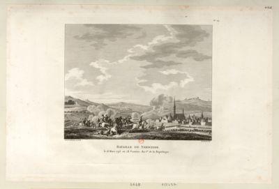 Bataille de Nerwinde le 18 mars <em>1793</em>, ou 28 ventôse an I.er de la République : [estampe]