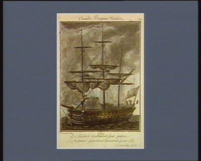 Claude Beguin matelot les lâches trahissent leur patrie, les hommes généreux meurent pour elle. 15 fructidor, an 1.er : [estampe]