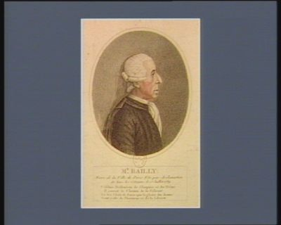 Mr Bailly maire de la Ville de <em>Paris</em>. Élu par acclamation de tous les citoyens le 15 juillet 1789. .. : [estampe]