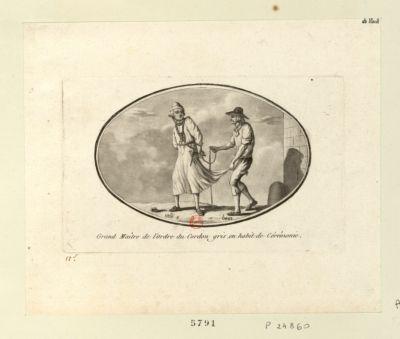 Grand maître de l'ordre du Cordon gris en habit de cérémonie [estampe]