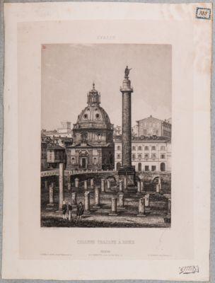 Colonna Traiana con parte centrale di resti della Basilica Ulpia